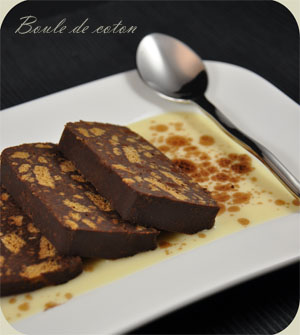 Terrine chocolat spéculoos